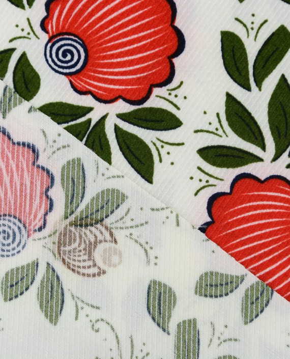 Плательная ткань 0879 цвет разноцветный цветочный картинка 1