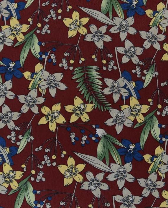 Плательная ткань 0888 цвет разноцветный цветочный картинка