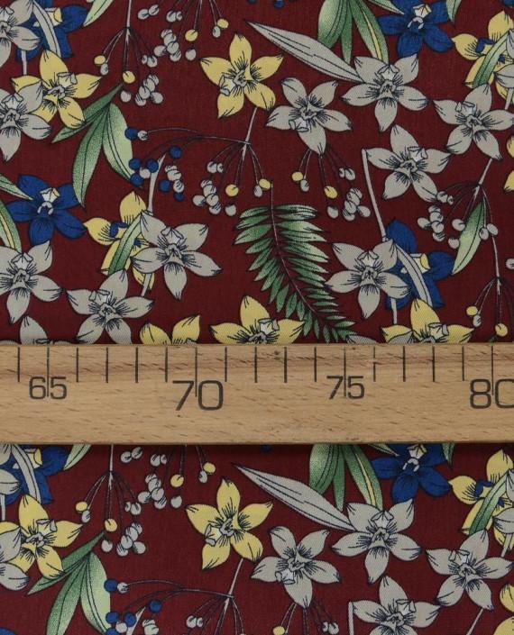 Плательная ткань 0888 цвет разноцветный цветочный картинка 2
