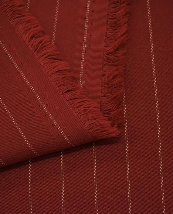 Костюмная 1066 цвет красный полоска картинка 1