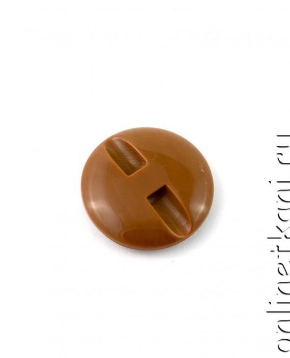 Пуговица 018 цвет коричневый картинка 1