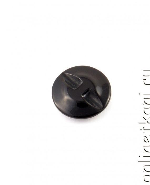 Пуговица 040 цвет черный картинка 1