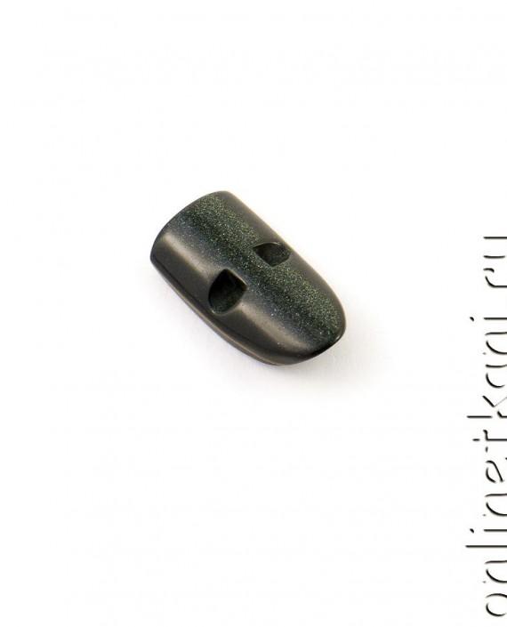 Пуговица 077 цвет черный картинка 2