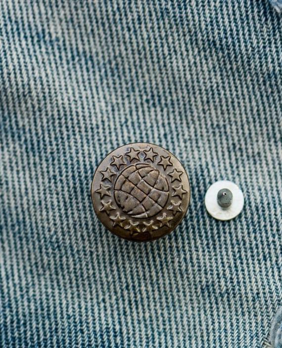 Пуговица джинсовая 138 цвет коричневый картинка