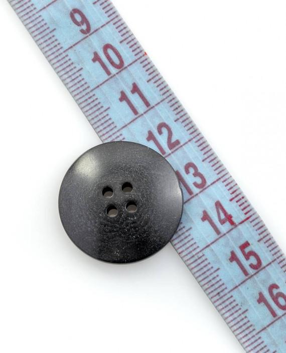 Пуговица 26 мм 146 цвет черный картинка 1