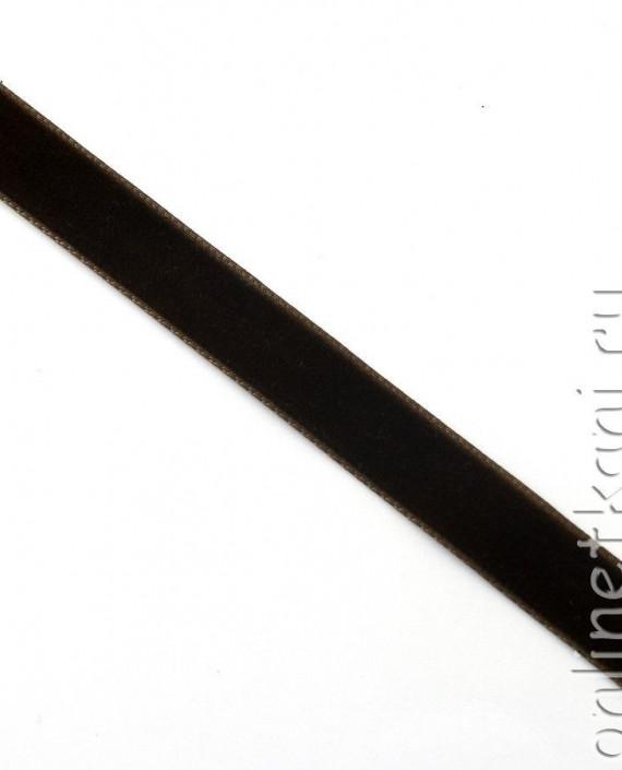 Тесьма Бархатная 1001 цвет коричневый картинка