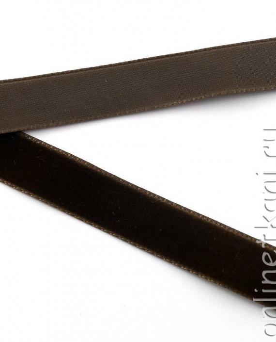Тесьма Бархатная 1001 цвет коричневый картинка 1