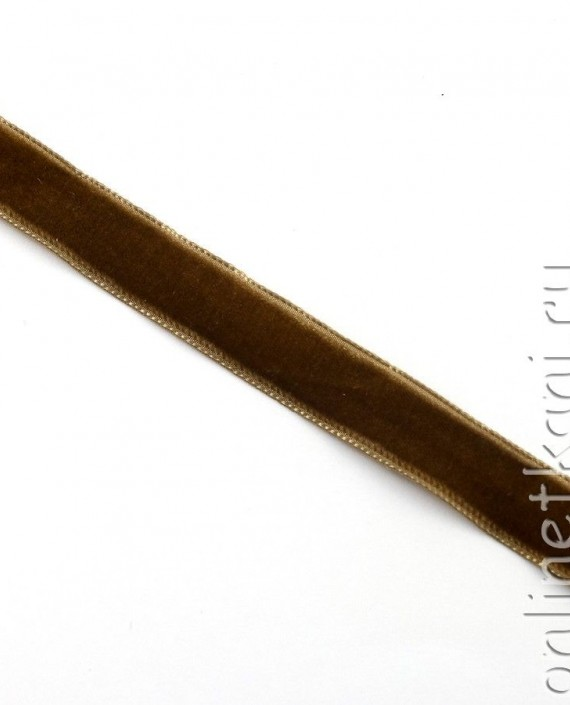 Тесьма Бархатная 1002 цвет коричневый картинка