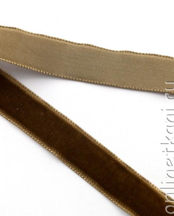 Тесьма Бархатная 1002 цвет коричневый картинка 2