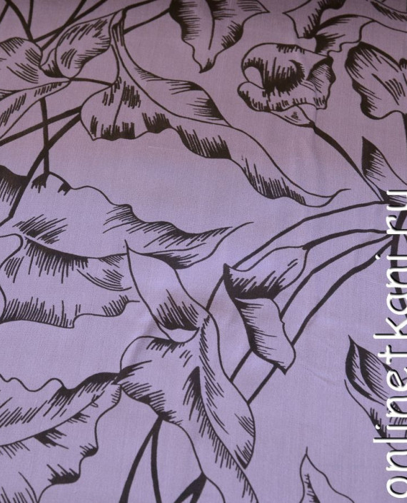 Ткань Шелк Крепдешин 0137 цвет сиреневый абстрактный картинка