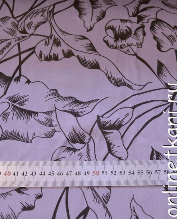 Ткань Шелк Крепдешин 0137 цвет сиреневый абстрактный картинка 2