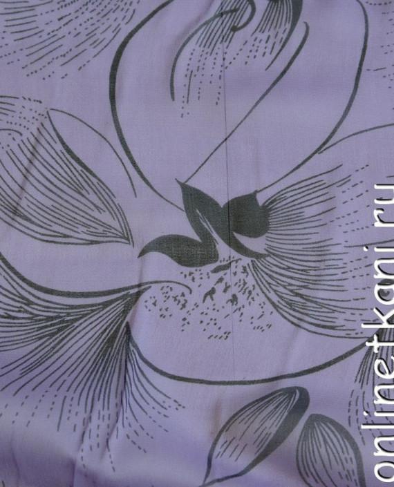 Ткань Шелк Крепдешин 0142 цвет сиреневый абстрактный картинка 2