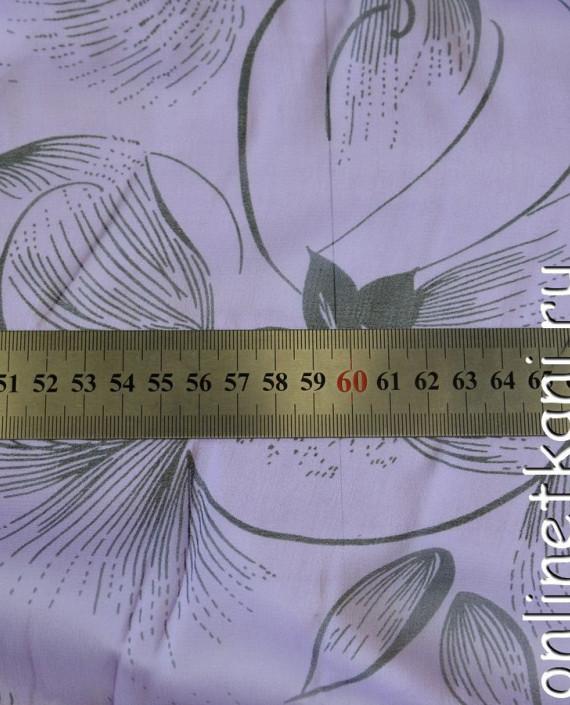 Ткань Шелк Крепдешин 0142 цвет сиреневый абстрактный картинка 1