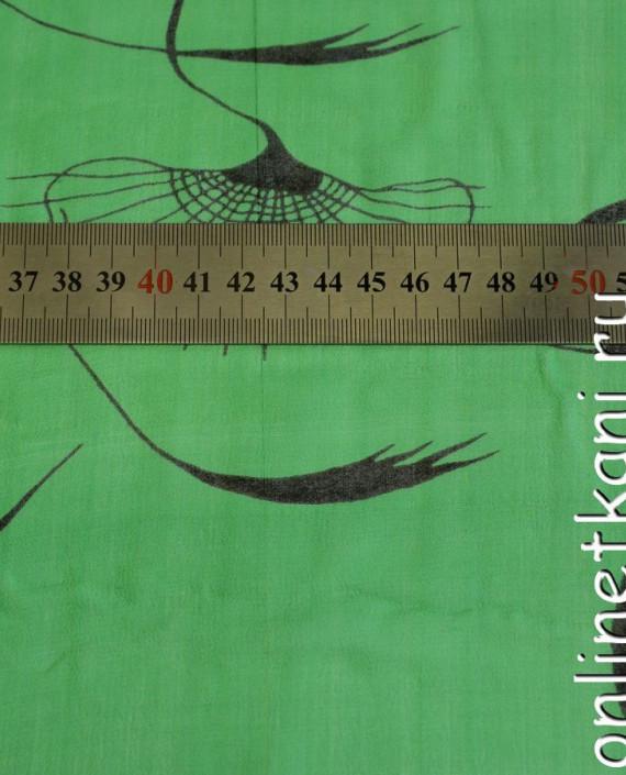 Ткань Шелк Крепдешин 0147 цвет зеленый абстрактный картинка 1