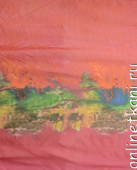 """Ткань Шелк Шифон Набивной """"Линьхэ"""" 0261 цвет разноцветный абстрактный картинка 2"""