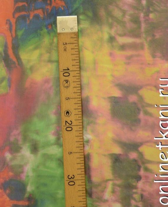 """Ткань Шелк Шифон Набивной """"Линьхэ"""" 0261 цвет разноцветный абстрактный картинка 1"""