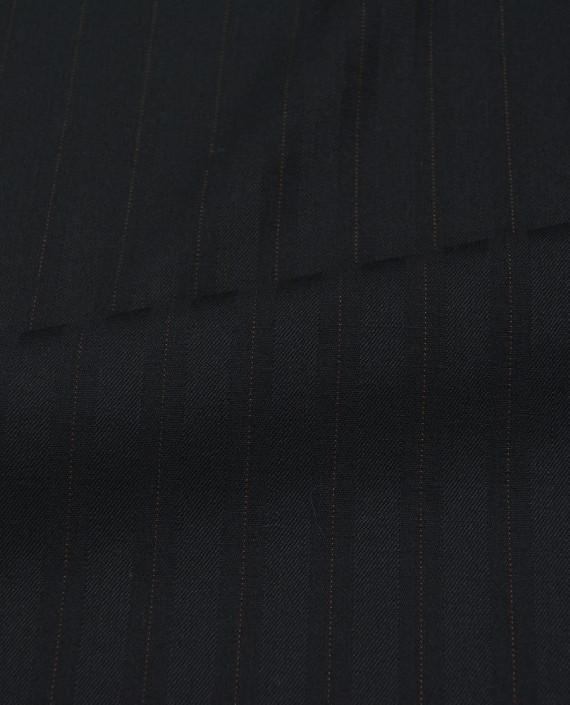 Шерсть костюмная 2505 цвет черный полоска картинка