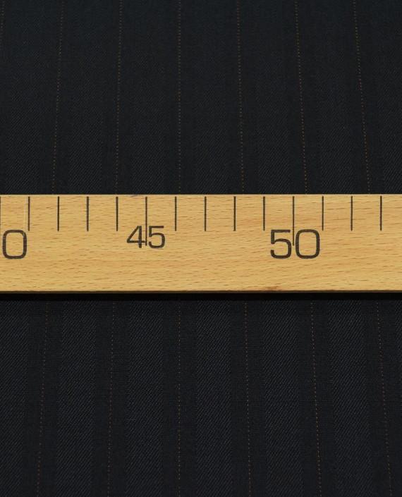 Шерсть костюмная 2505 цвет черный полоска картинка 2