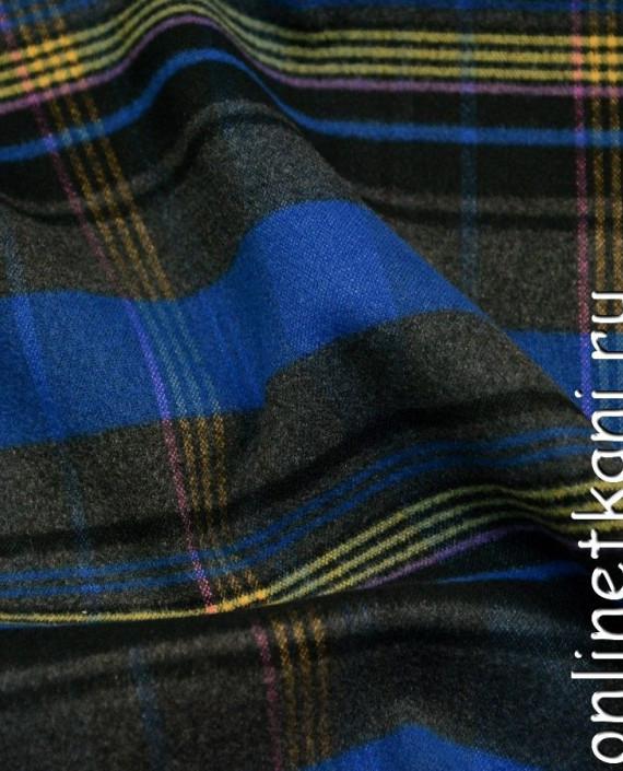 """Ткань Пальтовая """"Насыщенная клетка"""" 491 цвет разноцветный в клетку картинка 2"""