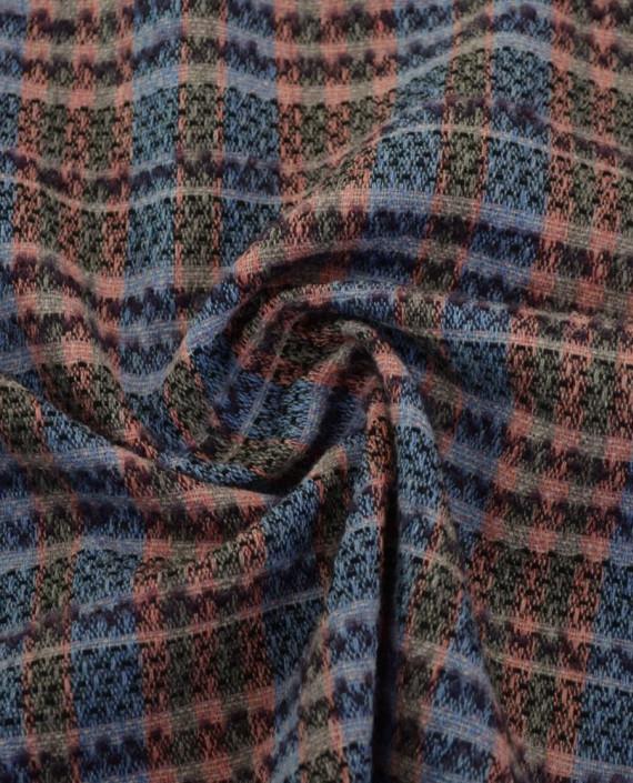 Ткань Шерсть Костюмно-пальтовая Chanel 1872 цвет разноцветный в клетку картинка