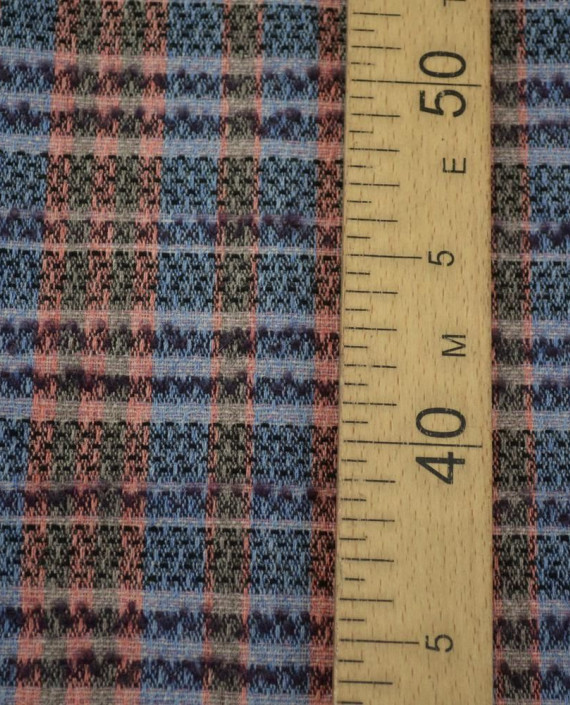 Ткань Шерсть Костюмно-пальтовая Chanel 1872 цвет разноцветный в клетку картинка 1