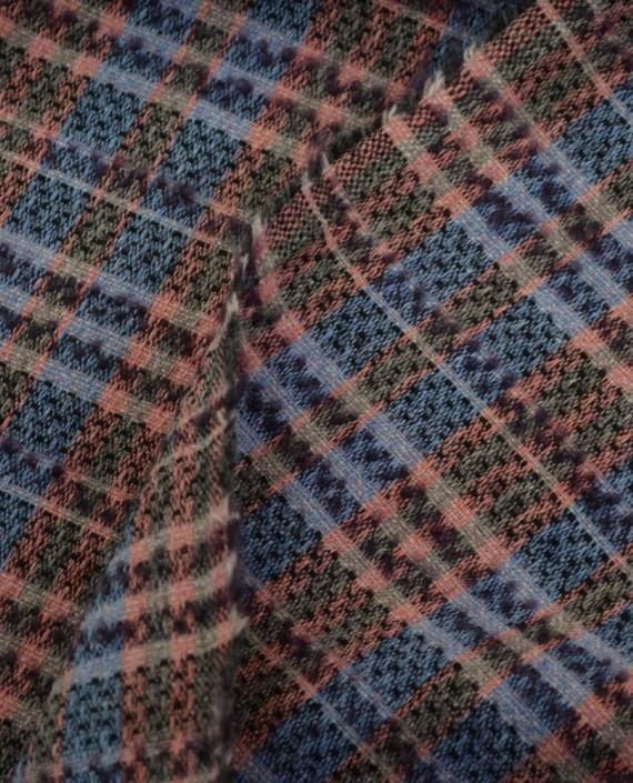 Ткань Шерсть Костюмно-пальтовая Chanel 1872 цвет разноцветный в клетку картинка 2