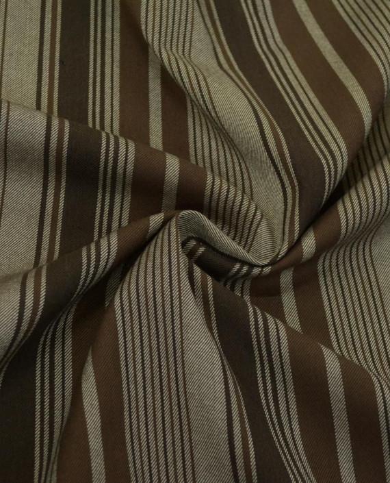 Ткань Костюмная Шерсть 2076 цвет разноцветный полоска картинка