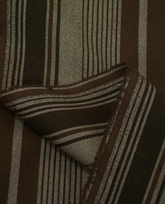 Ткань Костюмная Шерсть 2076 цвет разноцветный полоска картинка 1