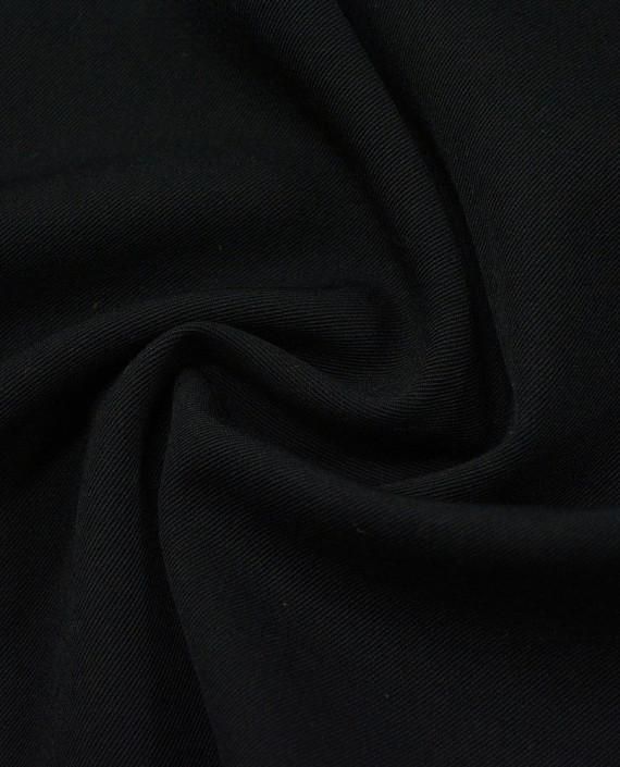 Шерсть Костюмная - последний отрез1m 12389 цвет черный картинка