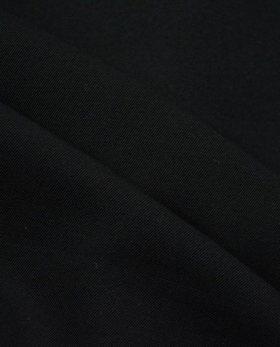 Шерсть Костюмная - последний отрез1m 12389 цвет черный картинка 1