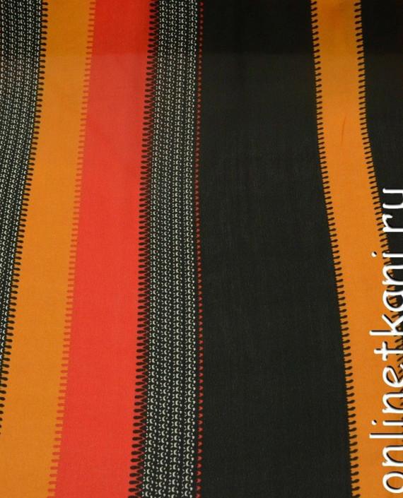Ткань Шифон Набивной 0203 цвет разноцветный в полоску картинка