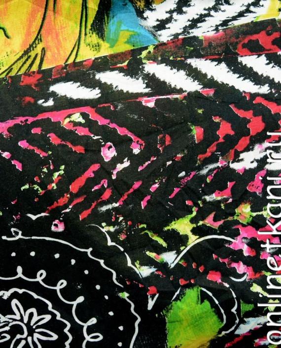 Ткань Штапель 074 цвет разноцветный абстрактный картинка