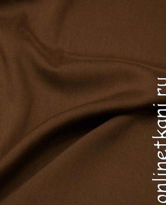 Ткань Штапель 253 цвет коричневый картинка