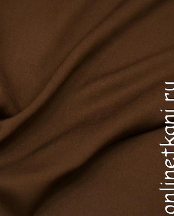 Ткань Штапель 253 цвет коричневый картинка 1