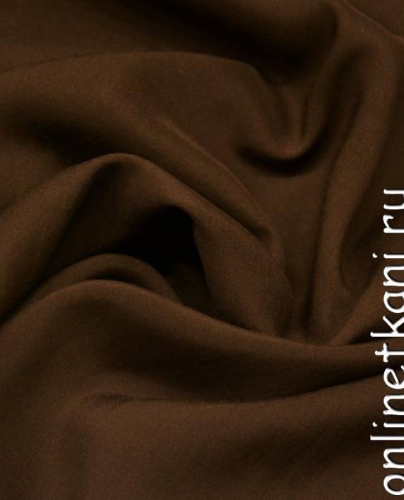 Ткань Штапель 253 цвет коричневый картинка 2