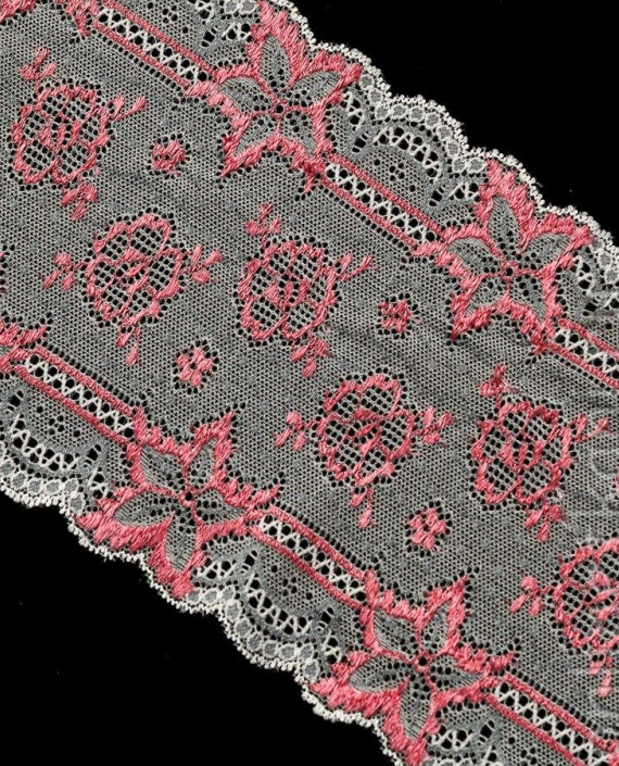 Тесьма Гипюровая 008 цвет розовый цветочный картинка