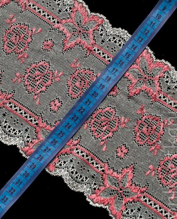Тесьма Гипюровая 008 цвет розовый цветочный картинка 1