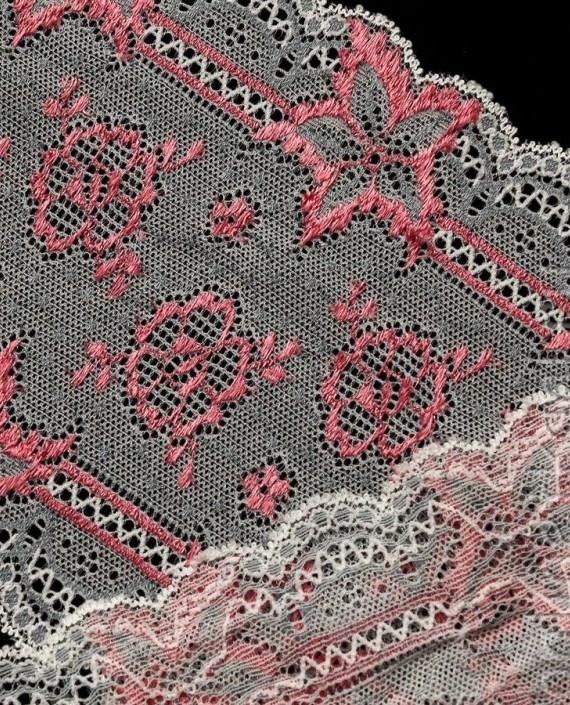 Тесьма Гипюровая 008 цвет розовый цветочный картинка 2