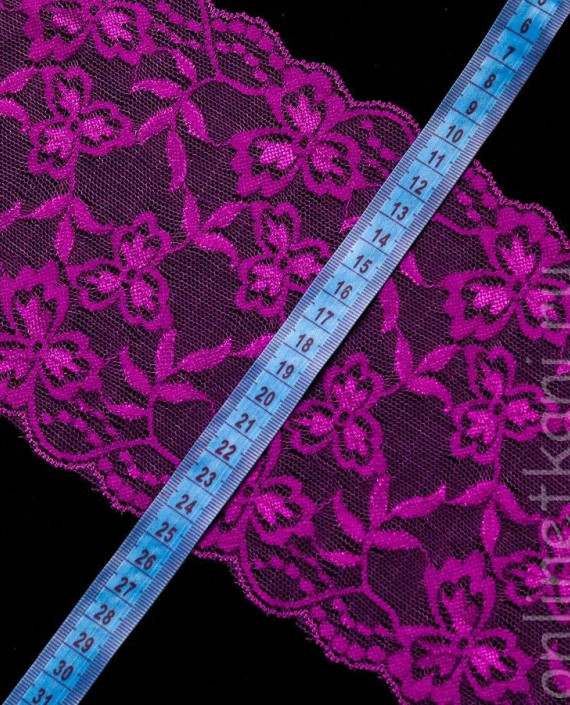 Тесьма Гипюровая 013 цвет сиреневый цветочный картинка 1