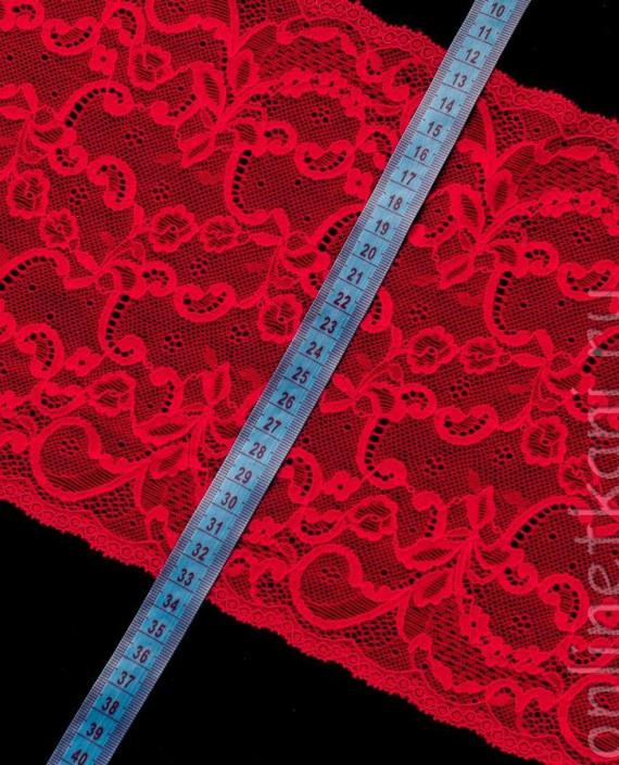 Тесьма Гипюровая 014 цвет красный цветочный картинка 1