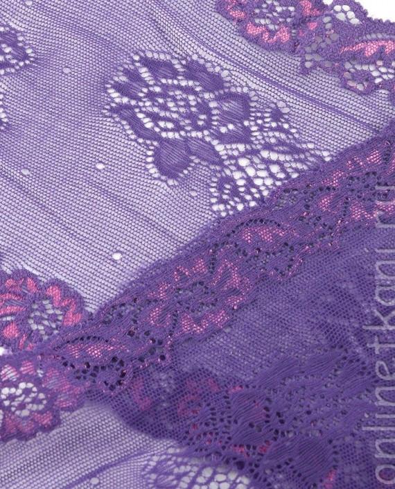Тесьма Гипюровая 063 цвет сиреневый цветочный картинка 2