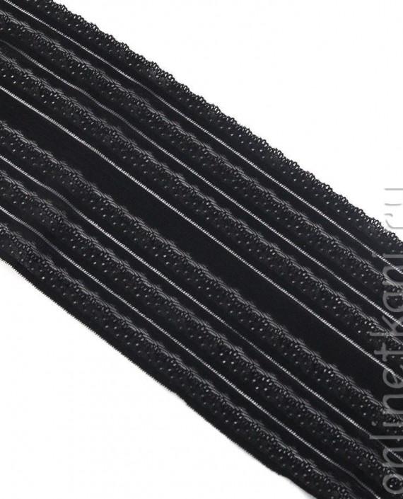 Тесьма Гипюровая 059 цвет черный абстрактный картинка