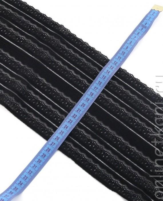 Тесьма Гипюровая 059 цвет черный абстрактный картинка 1