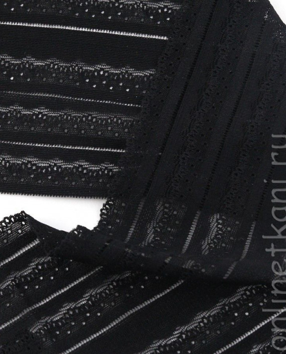 Тесьма Гипюровая 059 цвет черный абстрактный картинка 2