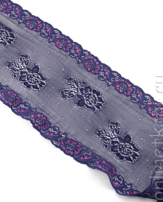 Тесьма Гипюровая 058 цвет фиолетовый цветочный картинка