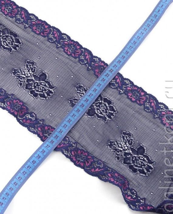 Тесьма Гипюровая 058 цвет фиолетовый цветочный картинка 1