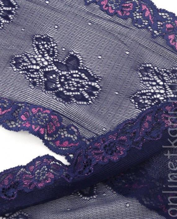 Тесьма Гипюровая 058 цвет фиолетовый цветочный картинка 2