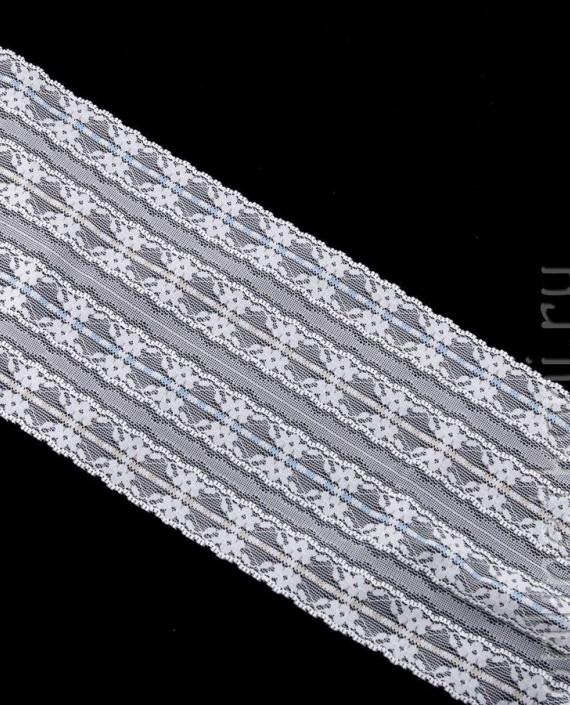 Тесьма Гипюровая 062 цвет белый цветочный картинка
