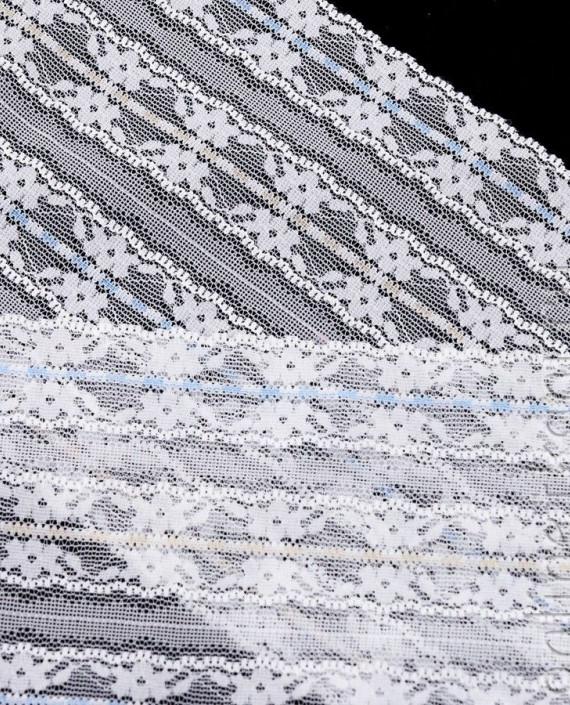 Тесьма Гипюровая 062 цвет белый цветочный картинка 2