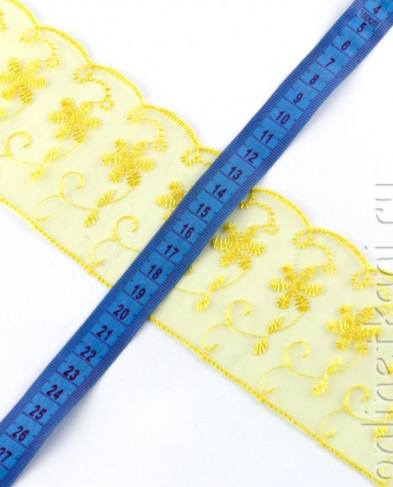 Тесьма 157 цвет желтый цветочный картинка 1